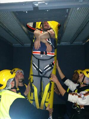 addestramento salvataggio in spazi confinati